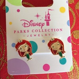 Disney Girls Pierced  Ariel Earrings